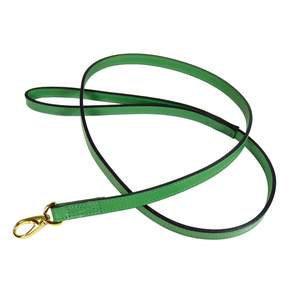 HAUTE COUTURE OCTAGON DOG LEAD IN KELLY GREEN, Leash - Bones Bizzness