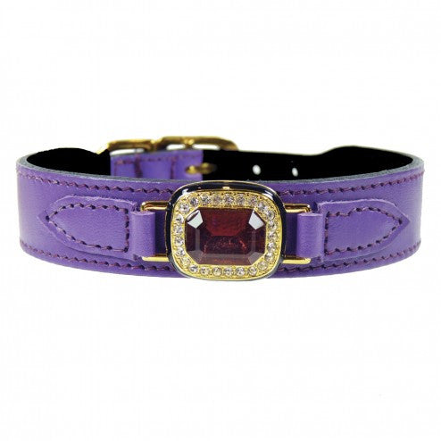 HAUTE COUTURE OCTAGON IN LAVENDER & AMETHYST DOG COLLAR, Collars - Bones Bizzness