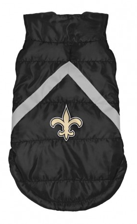 NEW ORLEANS SAINTS PET PUFFER VEST