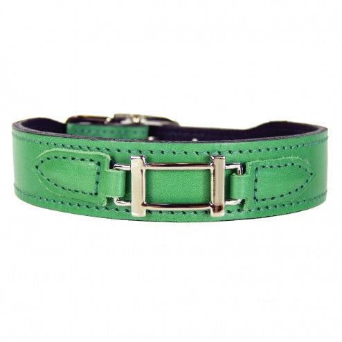 HAMILTON COLLECTION IN KELLY GREEN DOG COLLAR, Collars - Bones Bizzness