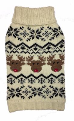 REINDEER FAIRISLE DOG SWEATER, Sweaters - Bones Bizzness