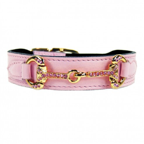 HORSE + HOUND IN SWEET PINK DOG COLLAR