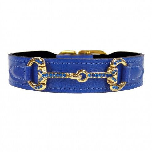 HORSE + HOUND IN COBALT BLUE DOG COLLAR