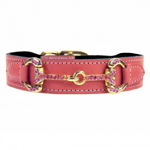 HORSE + HOUND IN PETAL PINK DOG COLLAR