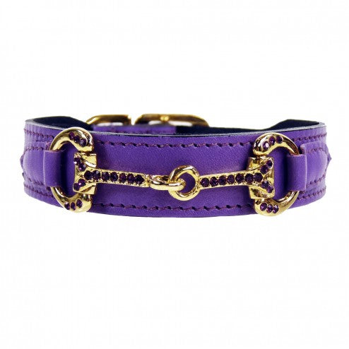 HORSE + HOUND IN LAVENDER DOG COLLAR