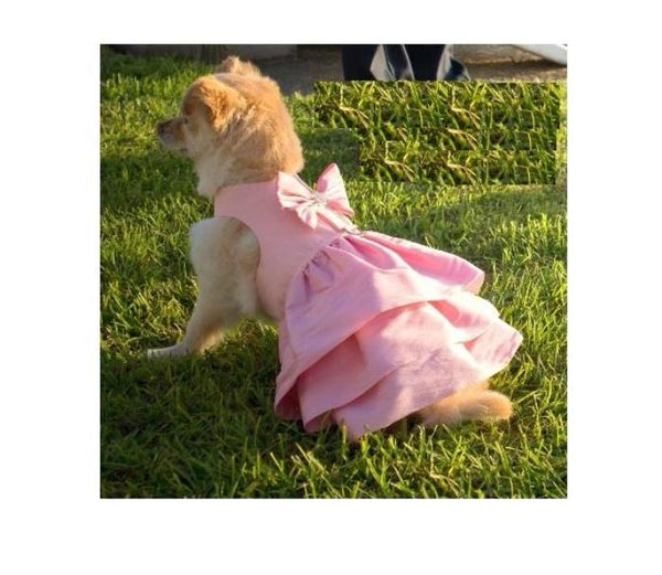 PUPPY PINK MADISON COUTURE DOG DRESS HARNESS, DRESS - Bones Bizzness