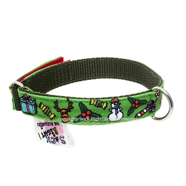 JINGLE BELLS TEXTILE DOG COLLAR
