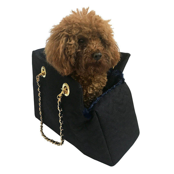 KATE QUILTED DOG CARRIER DENIM