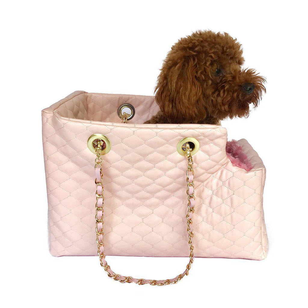 KATE QUILTED DOG CARRIER PINK