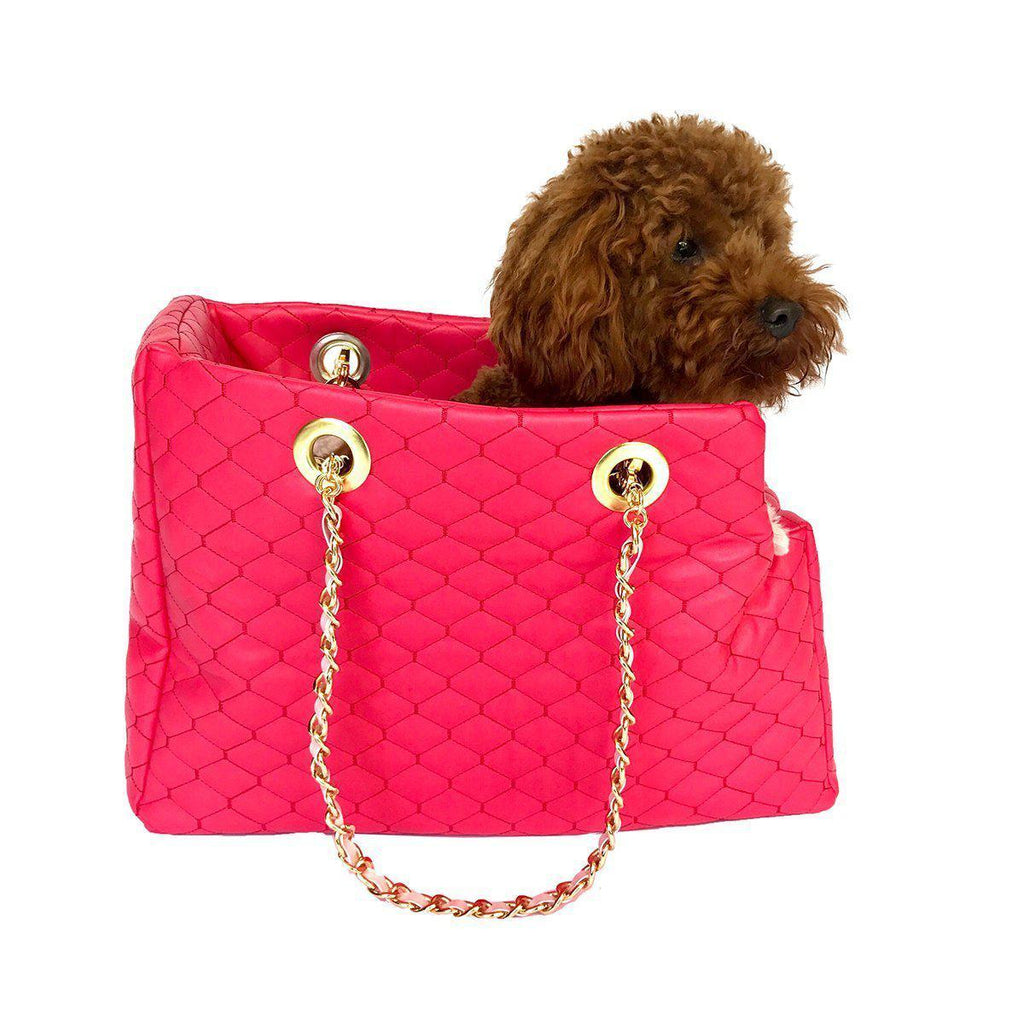 KATE QUILTED DOG CARRIER WATERMELON