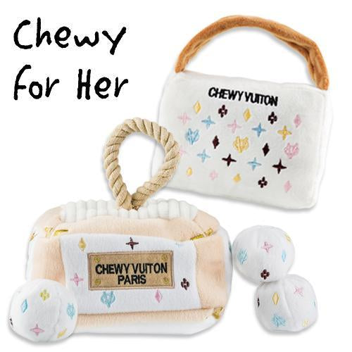 KEEP CALM & CHEWY VUITTON DOG TOY BUNDLE