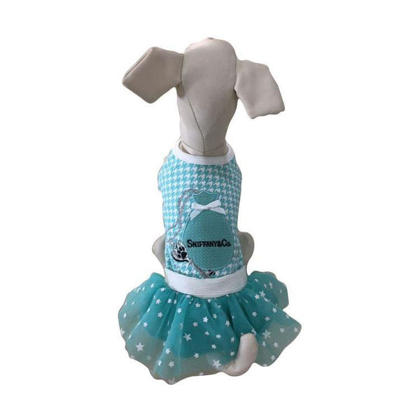 Sniffany Key Pouch Houndstooth Dog Dress