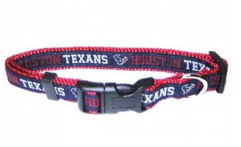 HOUSTON TEXANS DOG COLLAR – RIBBON