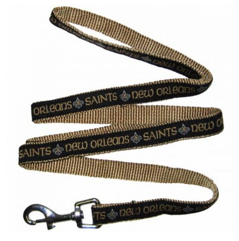 NEW ORLEANS SAINTS DOG LEASH – RIBBON
