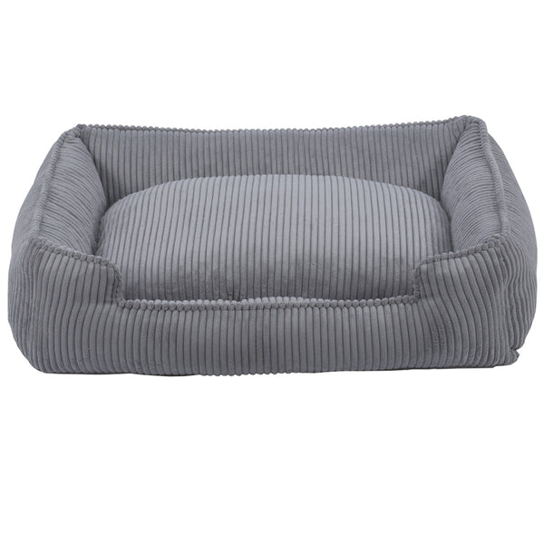 DOVE GREY LOUNGE DOG BED, Beds - Bones Bizzness