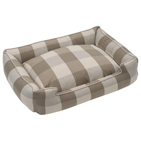 BUFFALO CHECK PUDDY LOUNGE DOG BED, Beds - Bones Bizzness