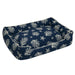 COVE NAVY LOUNGE DOG BED, Beds - Bones Bizzness