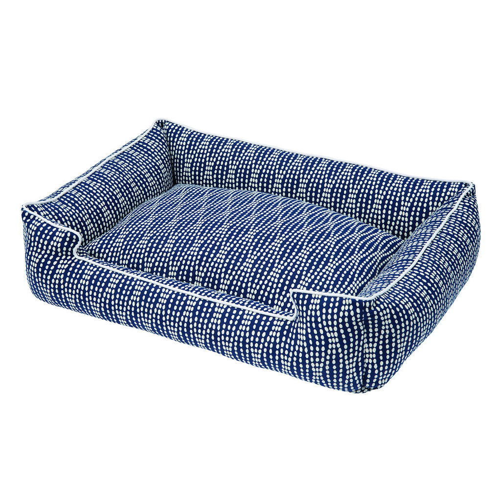 PEARL NAVY LOUNGE DOG BED, Beds - Bones Bizzness