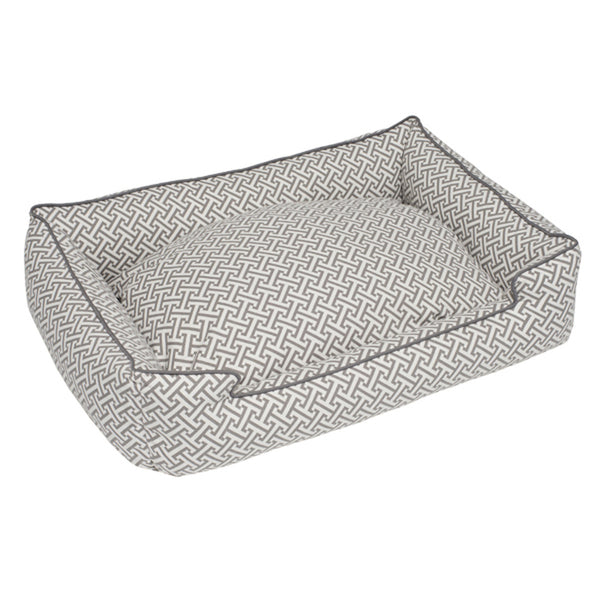 HERA GREY LOUNGE DOG BED, Beds - Bones Bizzness
