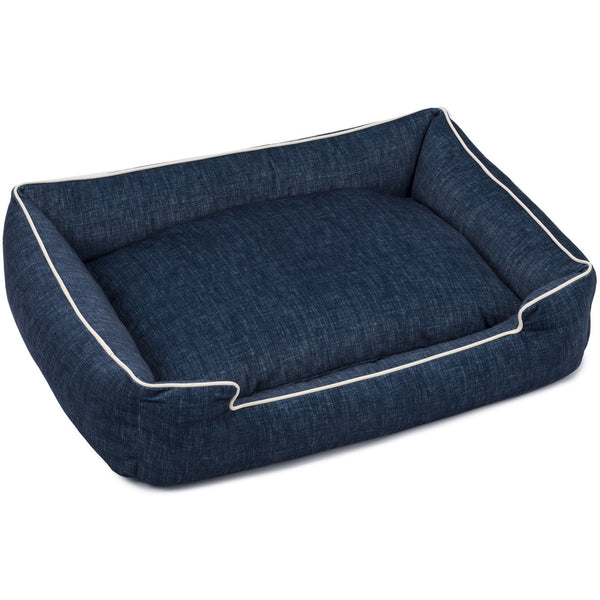 DENIM LOUNGE DOG BED, Beds - Bones Bizzness