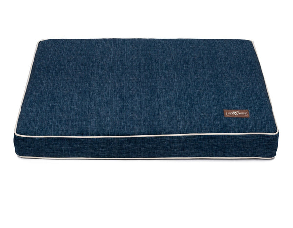 DENIM MEMORY FOAM PILLOW DOG BED