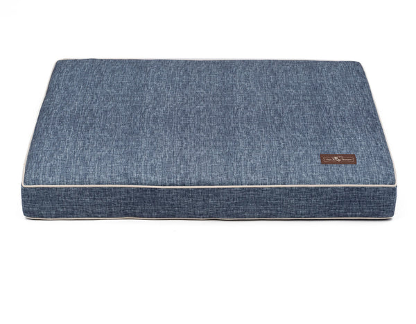STONE WASH MEMORY FOAM PILLOW DOG BED