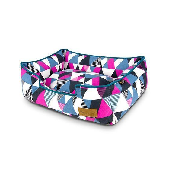 MOSAIC LOUNGE DOG BED - SODA POP