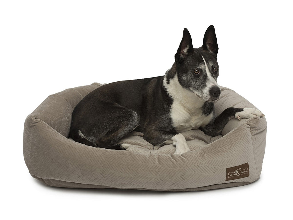 HENNA TAUPE NAPPER DOG BED, Beds - Bones Bizzness