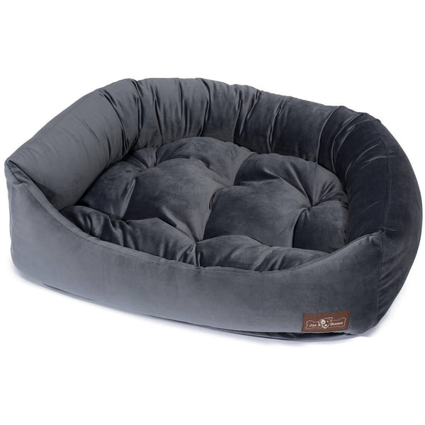 VINTAGE TITANIUM NAPPER DOG BED, Beds - Bones Bizzness