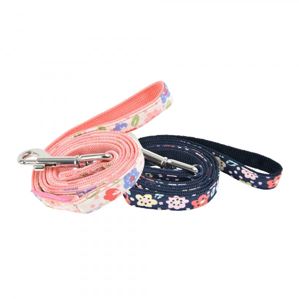 CROCUS DOG LEAD - INDIAN PINK / NAVY