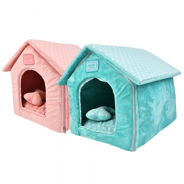 PALOMA DOG HOUSE - INDIAN PINK / MINT