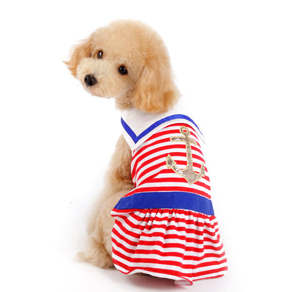 NAUTICAL STRIPE DOG DRESS, Dress - Bones Bizzness