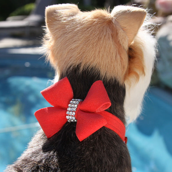 NOUVEAU BOW DOG COLLAR - RED PEPPER, Collars - Bones Bizzness
