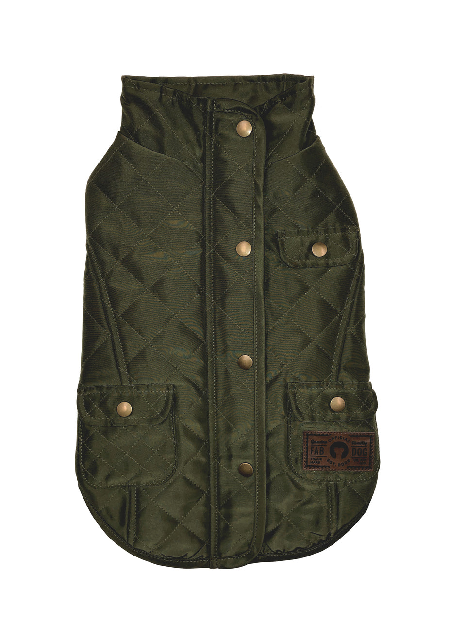 OLIVE QUILTED BARN DOG COAT