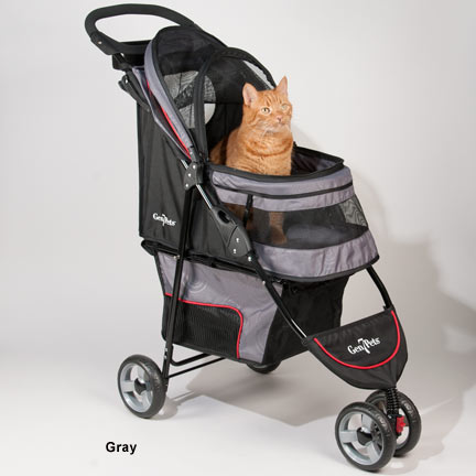 REGAL PLUS PET STROLLER - GREY, STROLLERS - Bones Bizzness