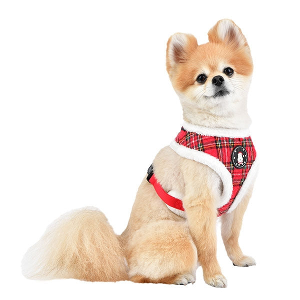 BLITZEN PUPPIA DOG HARNESS A - CHECKERED RED, Harness - Bones Bizzness