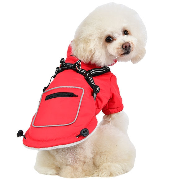 MALLORY DOG VEST w/ HARNESS - RED by PUPPIA, VESTS - Bones Bizzness
