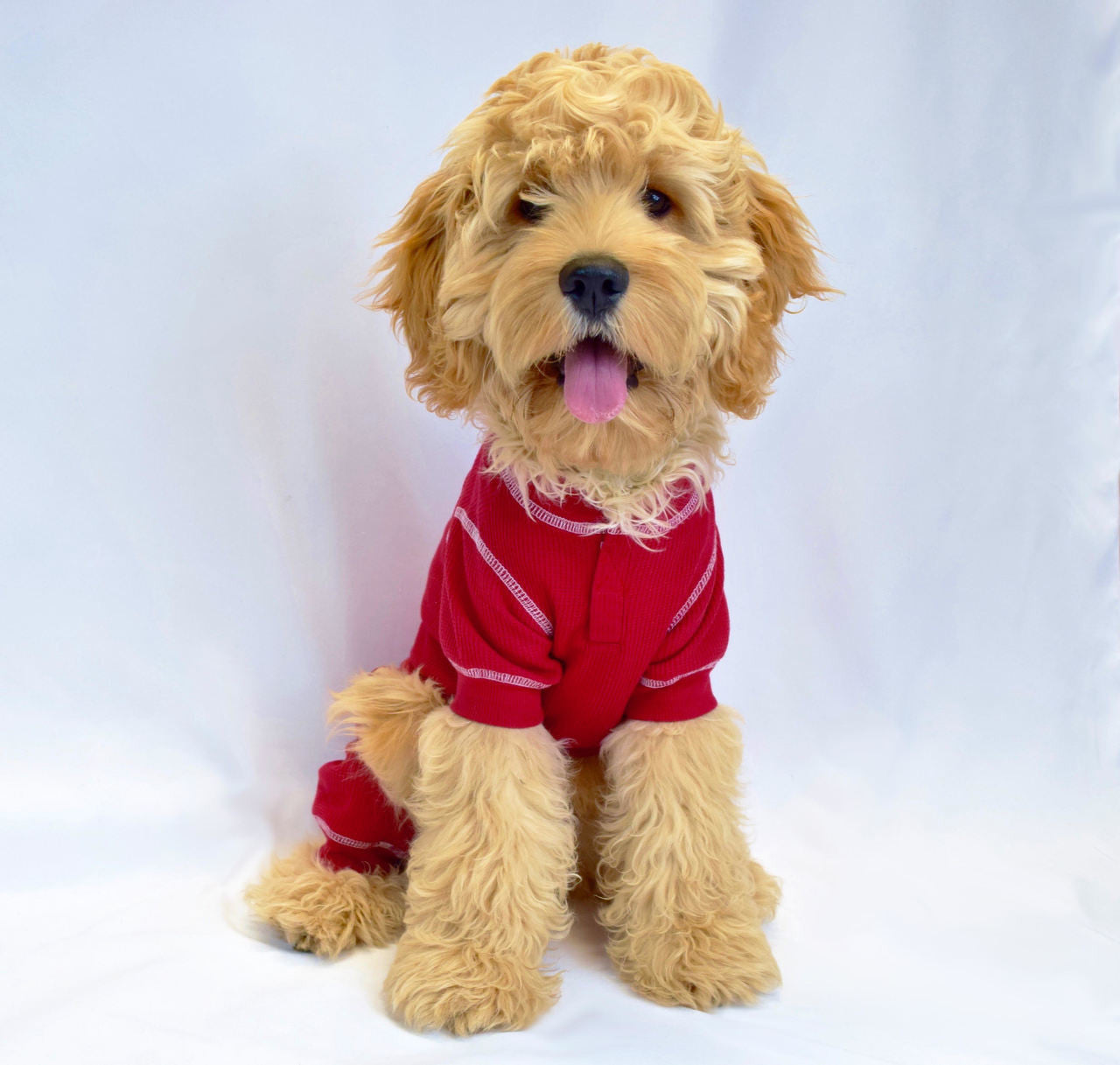 21ce30735797 RED THERMAL DOG PAJAMAS (NEW LARGER SIZES)