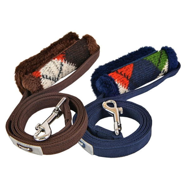 JOLLY DOG LEAD - BROWN / NAVY