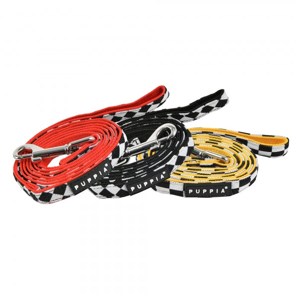 RACER DOG LEAD - RED / BLACK / YELLOW