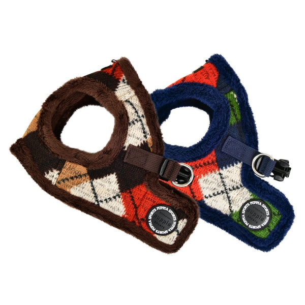 JOLLY DOG HARNESS B - BROWN / NAVY