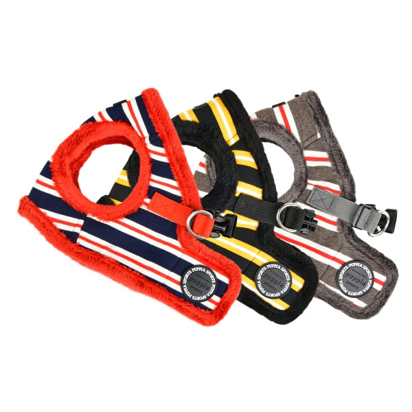 ROWDY DOG HARNESS B - (RED / BLACK / DARK GREY)