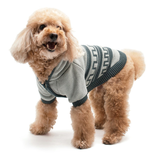 PATTERN HOODIE DOG SWEATER, Sweaters - Bones Bizzness