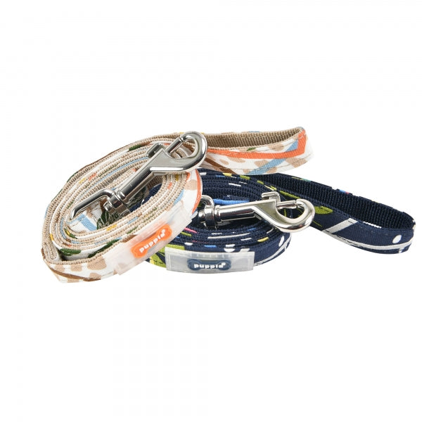 BOTANICAL DOG LEAD - BEIGE / NAVY