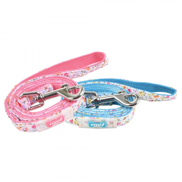 WILDFLOWER DOG LEAD - PINK / SKY BLUE