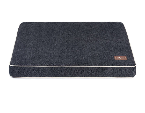 HERRINGBONE TWILIGHT MEMORY FOAM PILLOW DOG BED