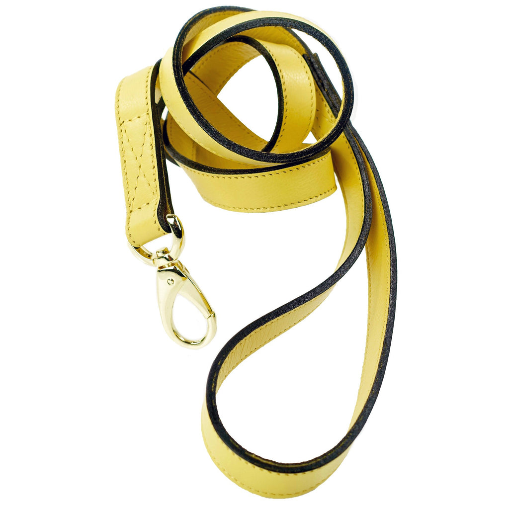 HAMILTON COLLECTION DOG LEAD IN CANARY YELLOW, Leash - Bones Bizzness