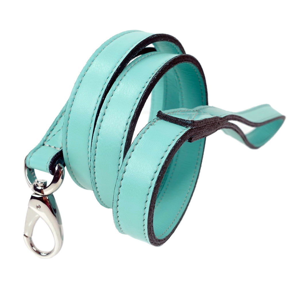 HAUTE COUTURE OCTAGON DOG LEAD IN TURQUOISE, Leash - Bones Bizzness