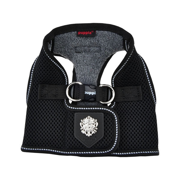 BLACK PUPPIA THERMAL SOFT VEST HARNESS B, Harness - Bones Bizzness