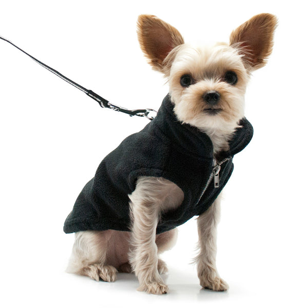 ESSENTIAL FLEECE DOG COAT VEST - BLACK